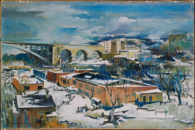 Preston Dickinson (1891-1930)-Winter, Harlem River