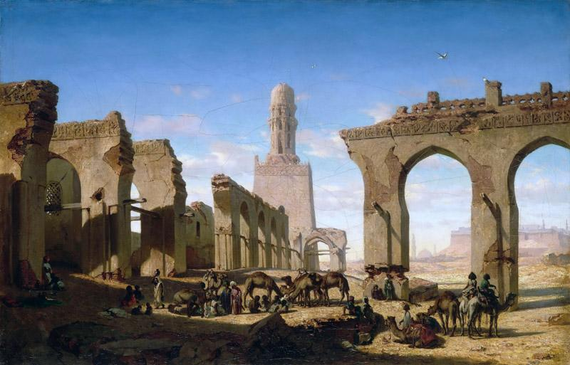 Prosper Marilhat -- Ruins of the Mosque of Caliph El-Hakem in Cairo