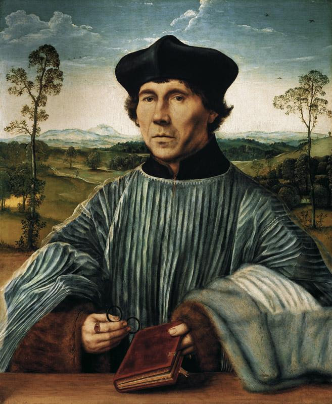Quentin Massys - Portrait of a Canon, before 1523