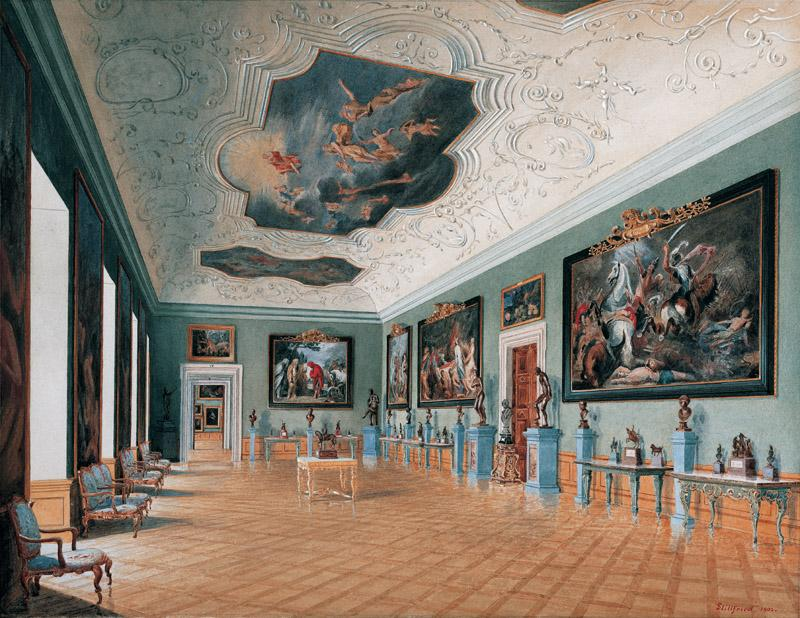 Raimund von Stillfried - The Grand Gallery at the Liechtenstein Garden Palace as it was in 1902
