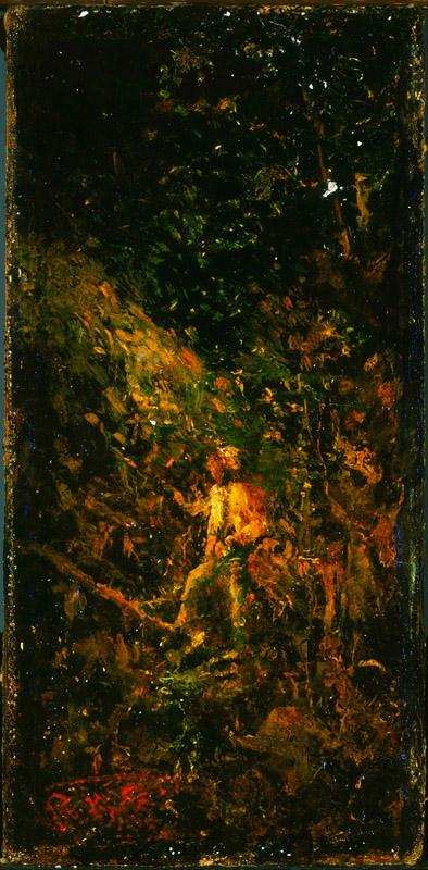 Ralph Albert Blakelock (1847-1919)-Figure in a Landscape