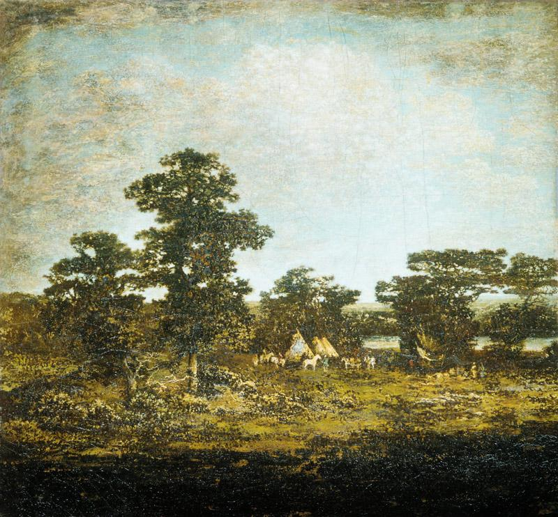 Ralph Albert Blakelock--An Indian Encampment