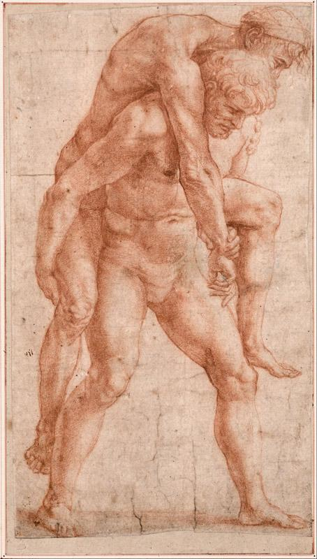 Raphael (1483-1520)-Young Man Carrying an Old Man on His Back, c
