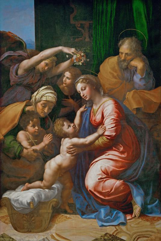 Raphael -- Holy Family with Saint Elizabeth, the Young Saint John and Angels