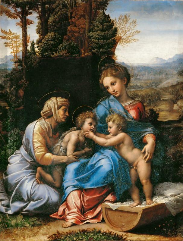 Raphael -- The Holy Family  Painted for Adrien Gouffier, cardinal of Boissy