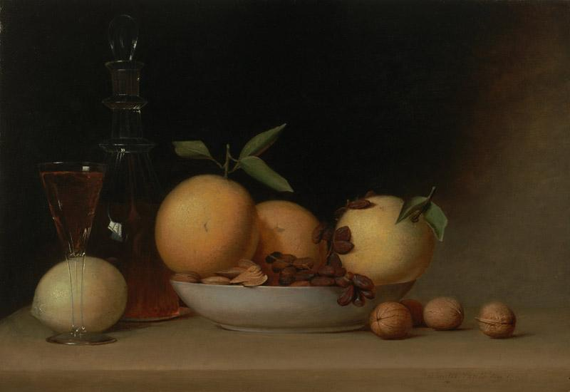 Raphaelle Peale - Still Life with Liqueur and Fruit, 1814