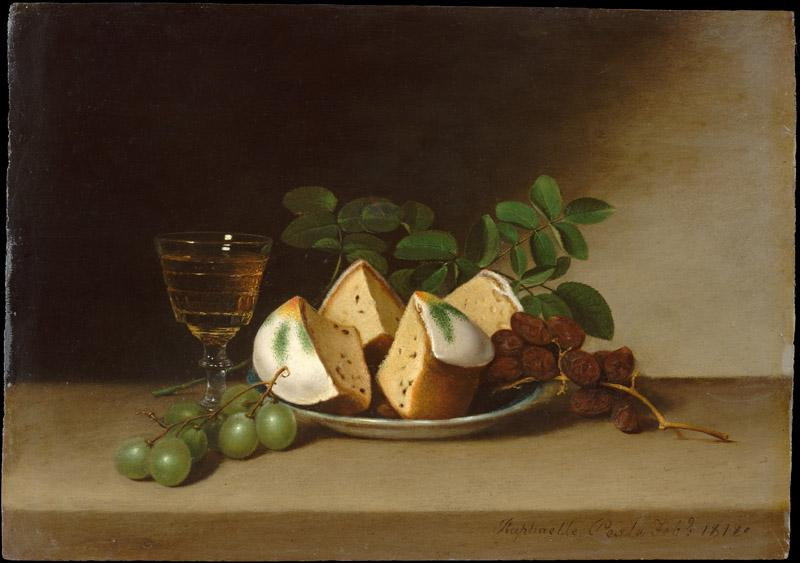 Raphaelle Peale--Still Life with Cake