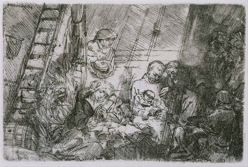 Rembrandt (1606-1669)-The Circumcision in the Stable