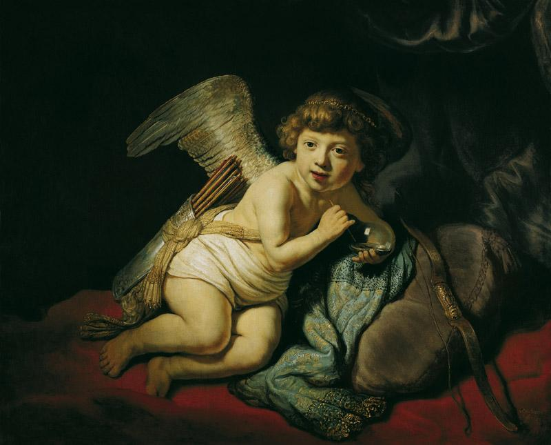 Rembrandt Harmensz van Rijn - Cupid with the Soap Bubble, 1634