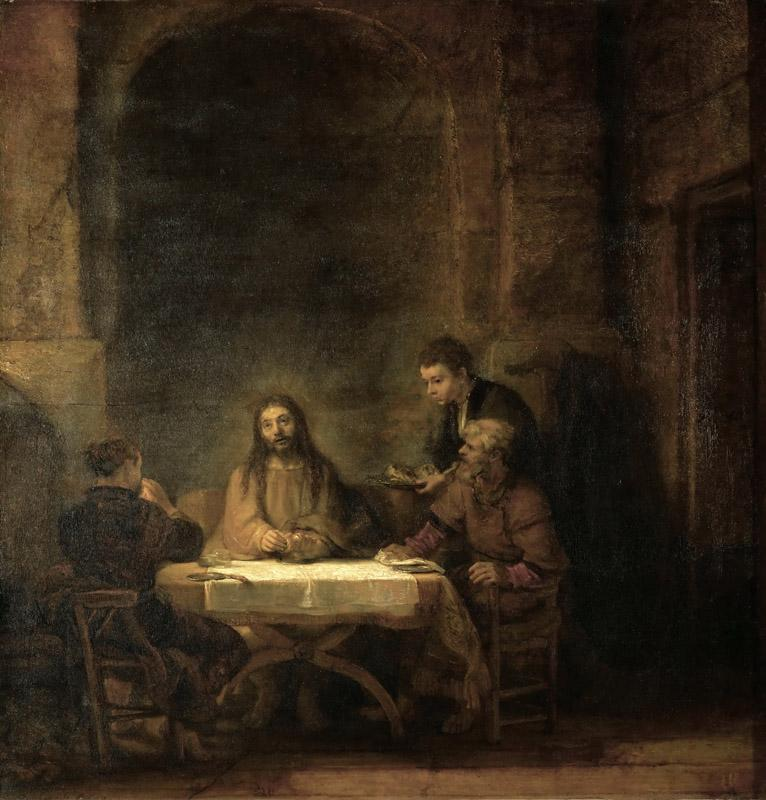 Rembrandt Harmensz van Rijn -- The Disciples at Emmaus