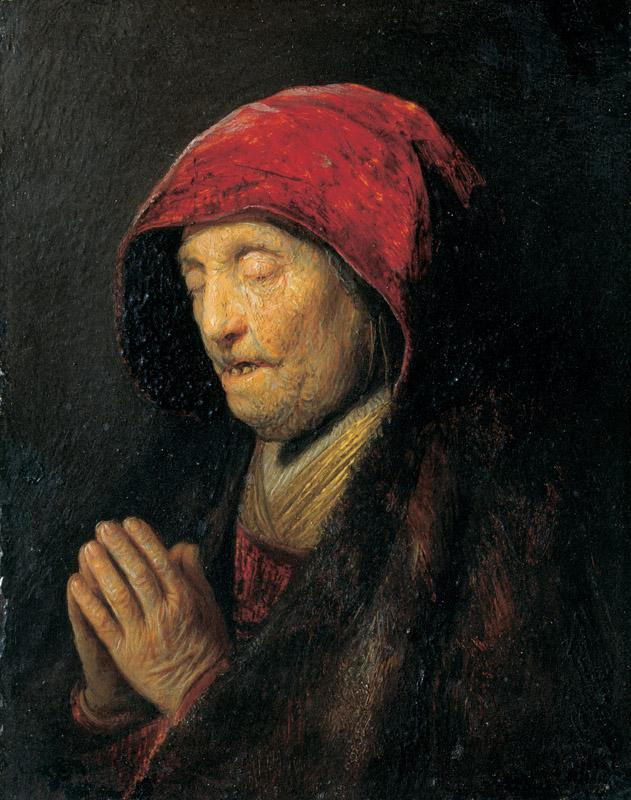 Rembrandt Harmensz. van Rijn - Old Woman Praying (known as Rembrandt Mother Praying), c. 1629-3