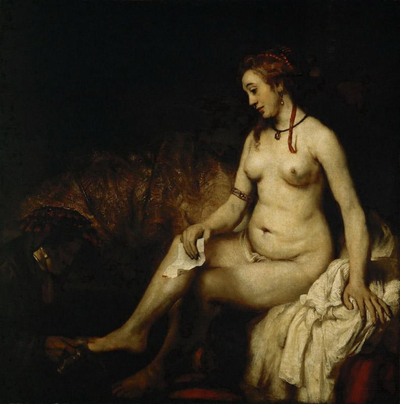 Rembrandt van Rijn -- Bathsheba at her Bath