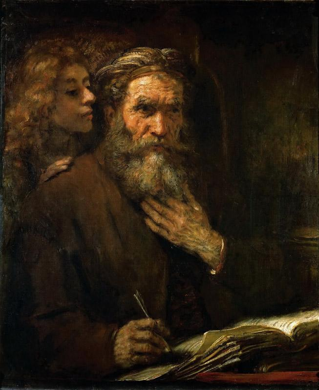 Rembrandt van Rijn -- Saint Matthew and the Angel