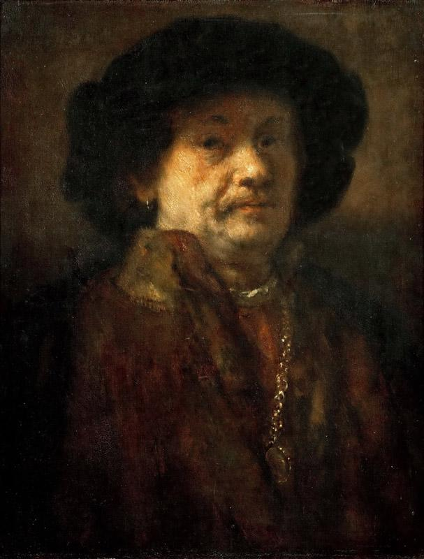 Rembrandt van Rijn -- Self Portrait in Fur Coat