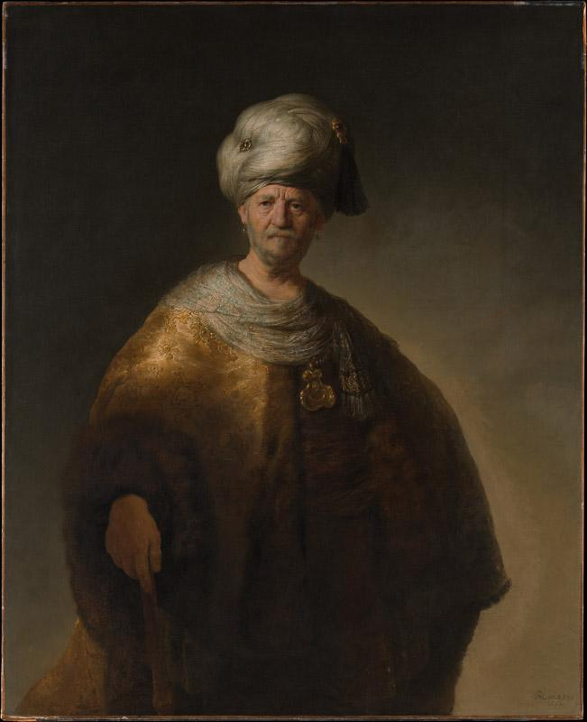 Rembrandt--Man in Oriental Costume