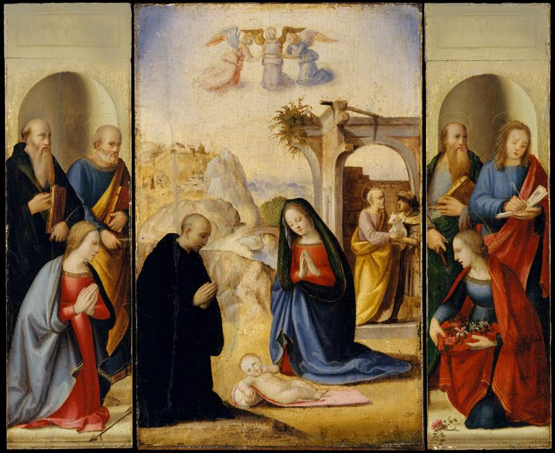 Ridolfo Ghirlandaio--The Nativity with Saints