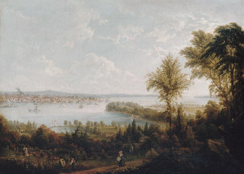 Robert Havell Jr.--View of the Bay and City of New York from Weehawken