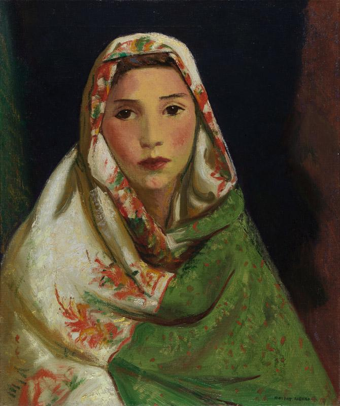 Robert Henri - Mexican Girl with Oriental Scarf, ca. 1916-1922