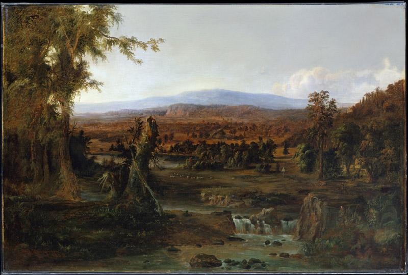 Robert S. Duncanson--Landscape with Shepherd