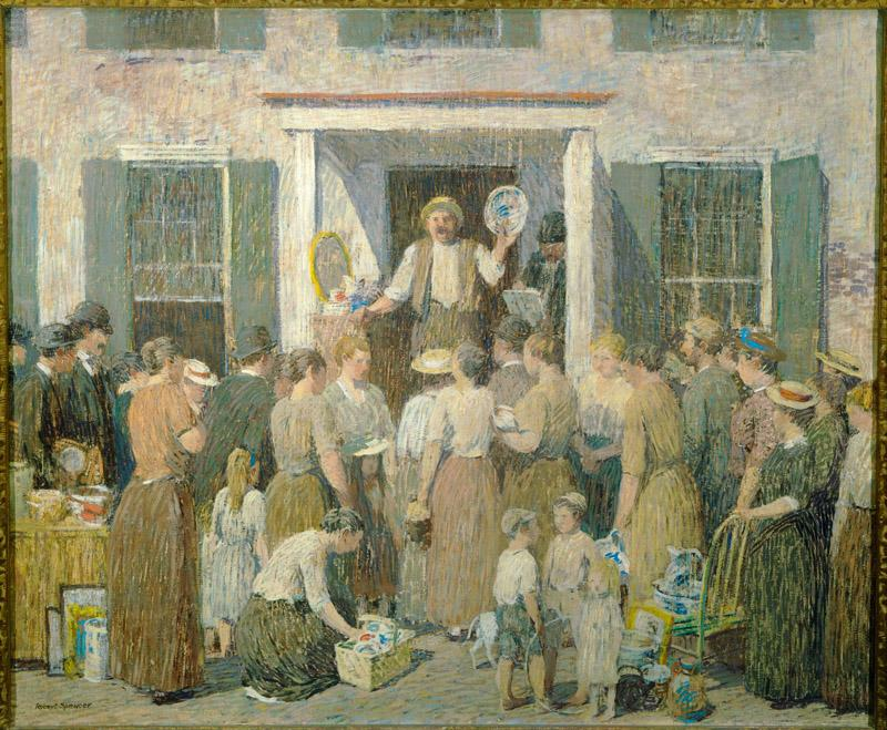 Robert Spencer (1879-1931)-The Auction