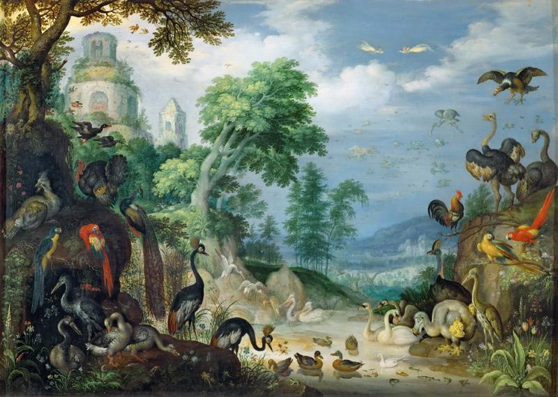 Roelandt Savery (1576-1639) -- Landscape with Birds