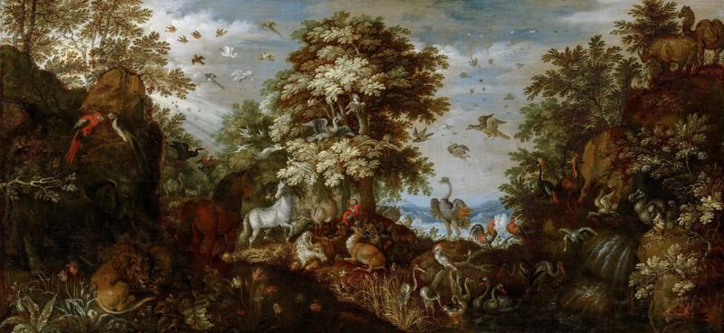 Roelant Savery - Orpheus Charming the Animals with his Music