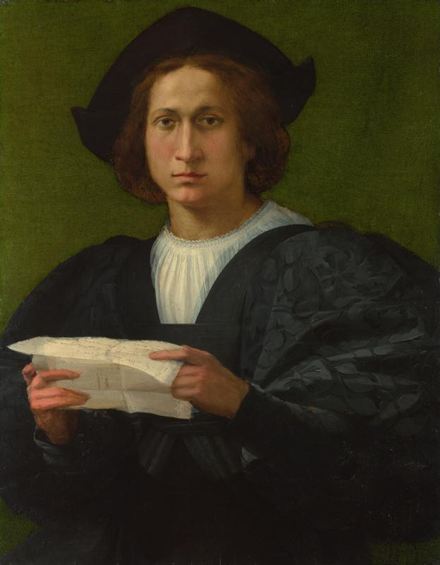 Rosso Fiorentino - Portrait of a Young Man holding a Letter