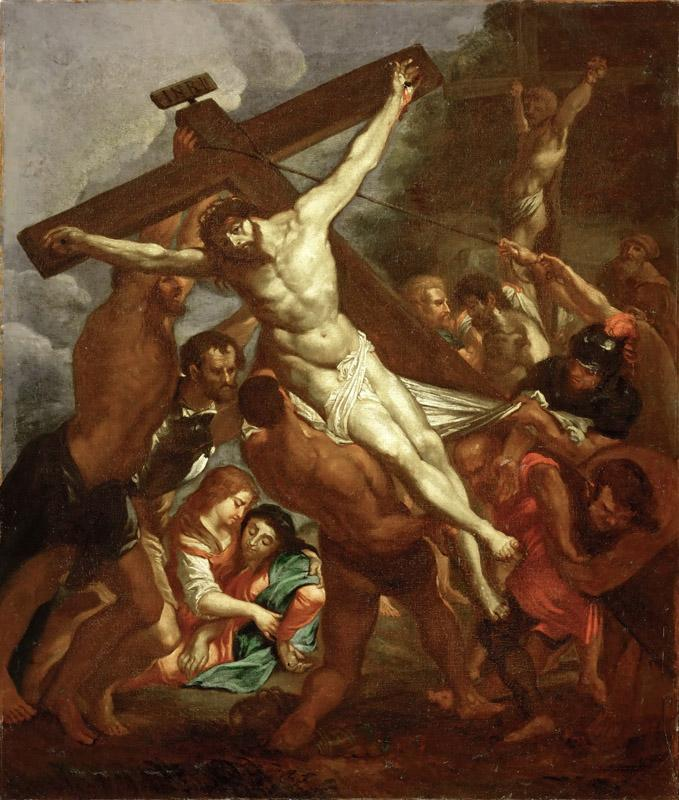 Rubens, Peter Paul -- L Erection de la Croix-the raising of the Cross
