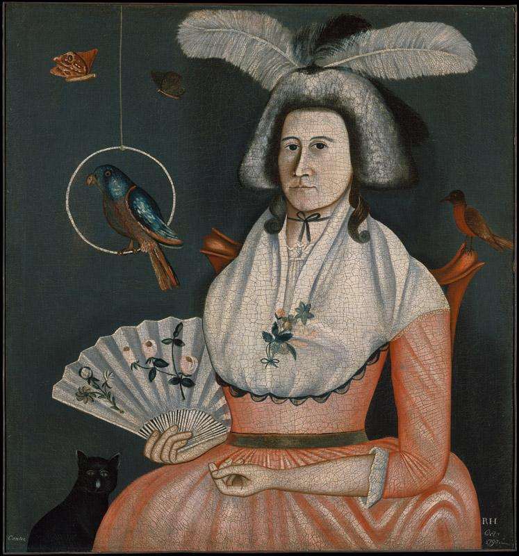 Rufus Hathaway--Lady with Her Pets (Molly Wales Fobes)