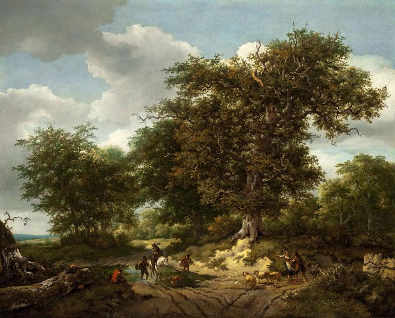 Ruisdael, Jacob van Berchem, Nicolaes Pietersz - The Great Oak