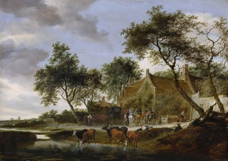 Ruysdael, Salomon van -- Pleisterplaats, 1660