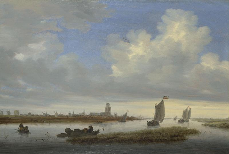 Salomon van Ruysdael - A View of Deventer seen from the North-West