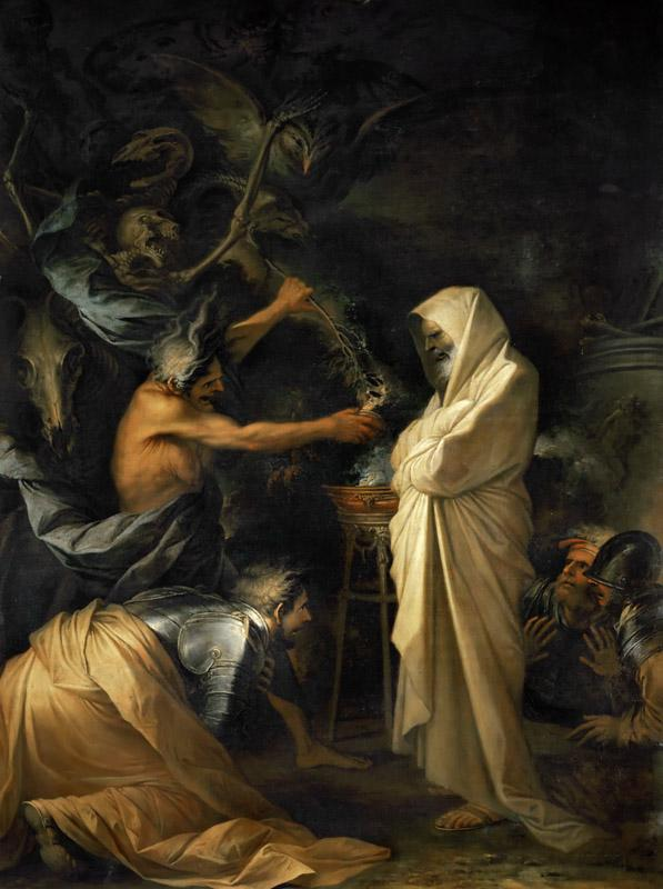 Salvator Rosa (1615-1673) -- The Shade of Saul Appears Before Samuel in the House of the Woman