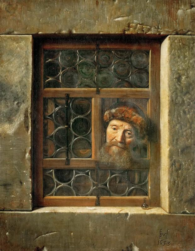 Samuel van Hoogstraten (1627-1678) -- Man at the Window