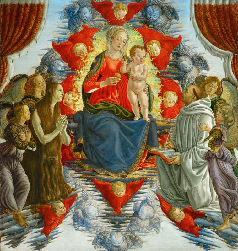 Sandro Botticelli (1444 or 1445-1510) -- Madonna and Child among Angels