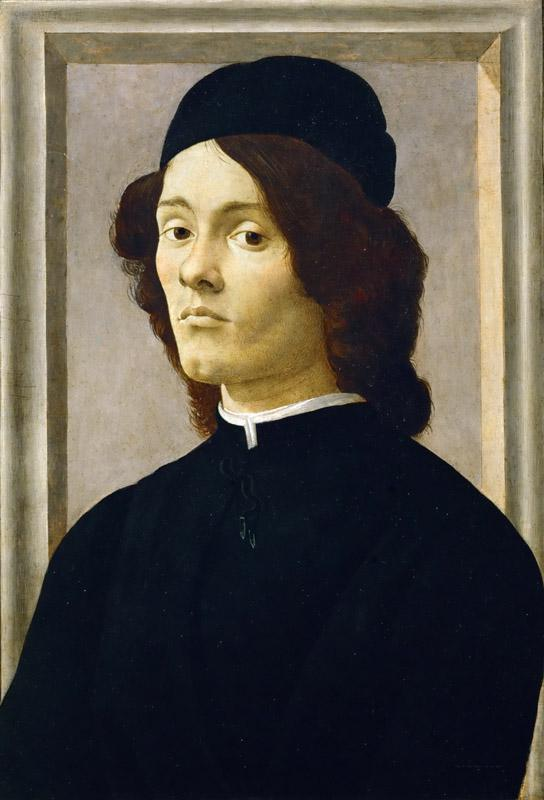 Sandro Botticelli (1444-1510)-Portrait of a Young Man