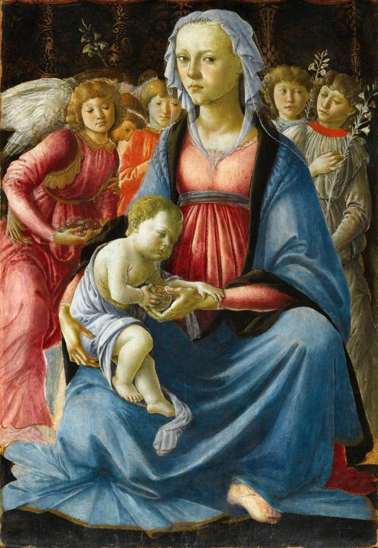 Sandro Botticelli -- Virgin and Child surrounded by Five Angels
