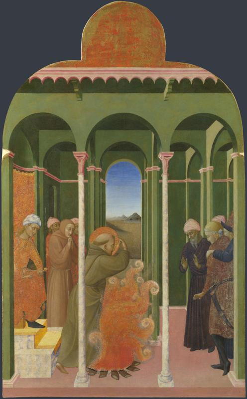 Sassetta - Saint Francis before the Sultan
