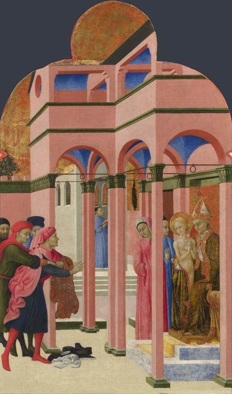 Sassetta - Saint Francis renounces his Earthly Father