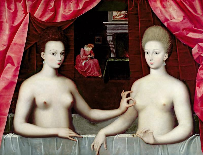 School of Fontainebleau -- Gabrielle d Estree and One of Her Sisters