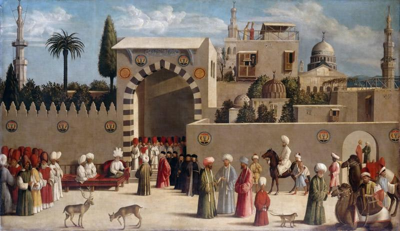 Sebastiano del Piombo -- Reception of a Venetian delegation in Damascus in 1511
