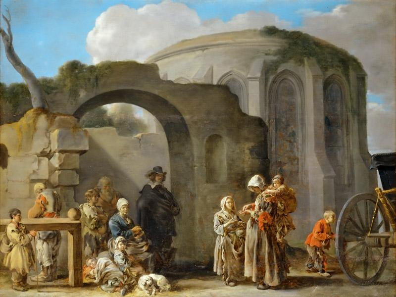 Sebastien Bourdon (1616-1671) -- The Beggars
