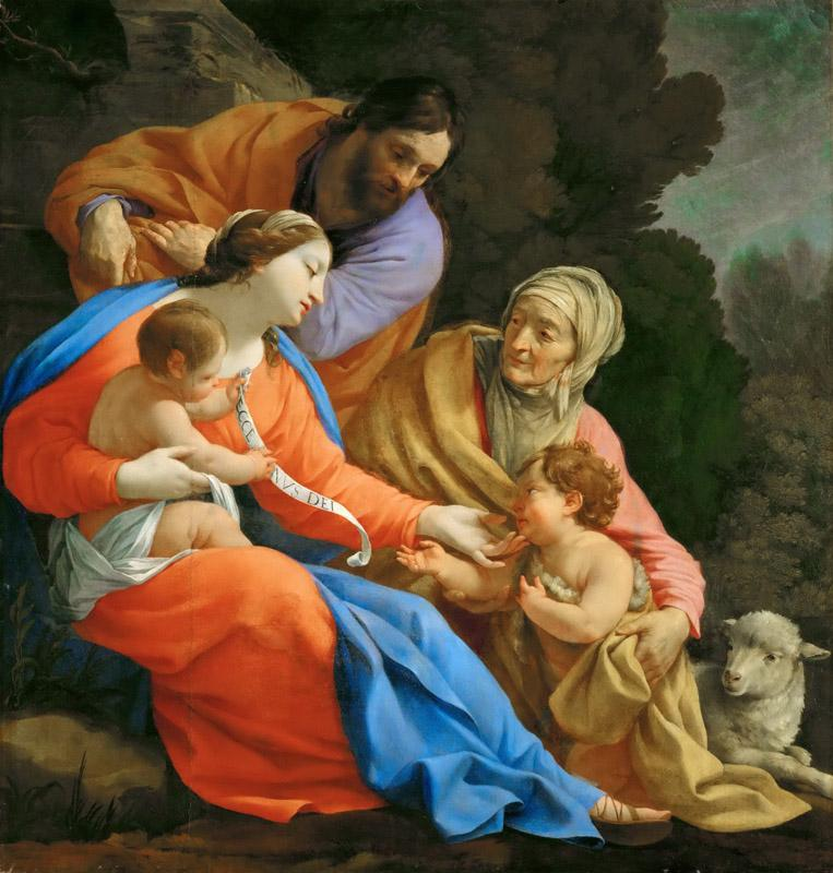 Simon Vouet -- The Holy Family with Saint Elizabeth and the young Saint John