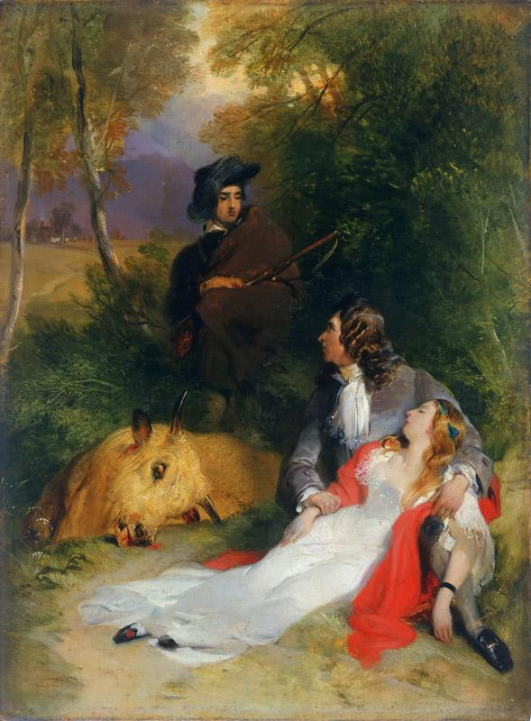 Sir Edwin Landseer, English, 1802-1873 -- The Bride of Lammermoor