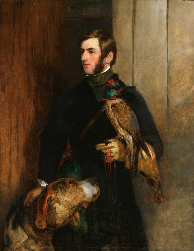 Sir Edwin Landseer, English, 1802-1873 -- The Falconer (possibly a portrait of William Russell)