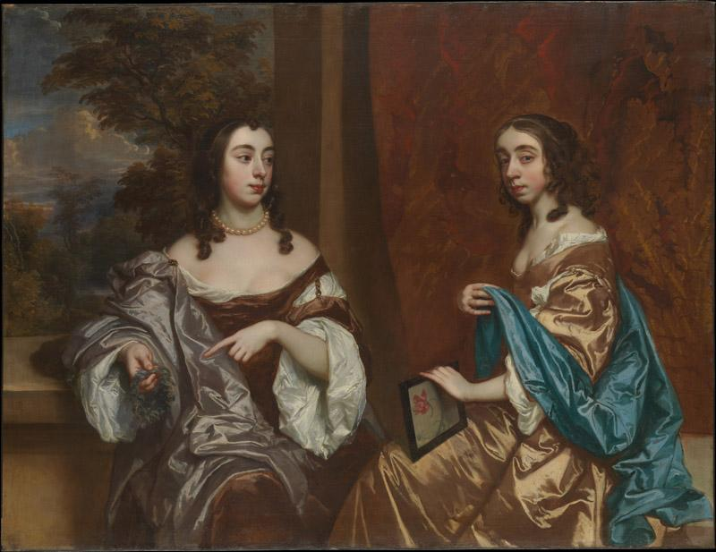 Sir Peter Lely--Mary Capel (1630-1715), Later Duchess of Beaufort, and Her Sister Elizabeth