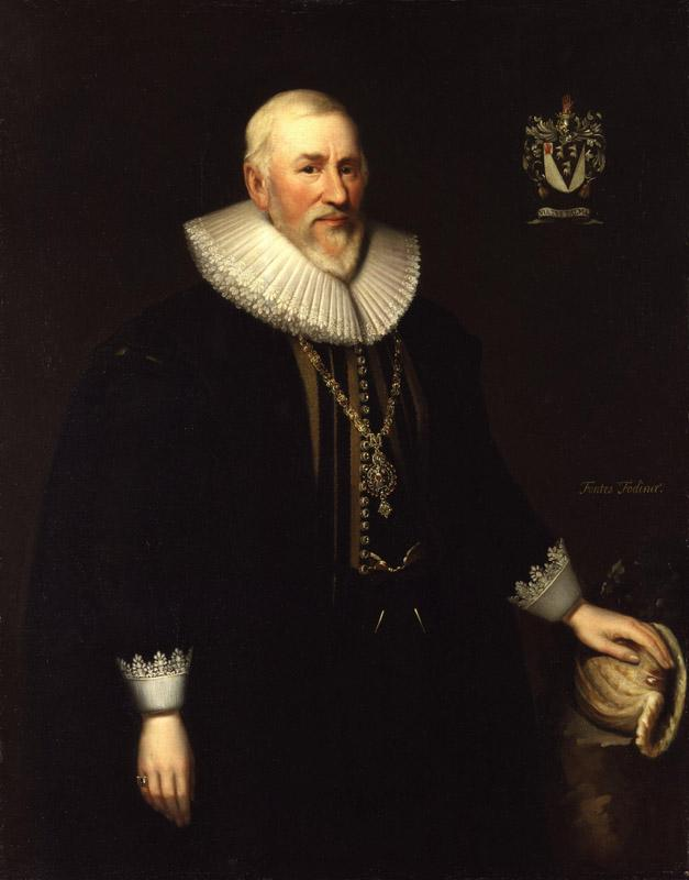 Sir Hugh Myddelton, 1st Bt by Cornelius Johnson