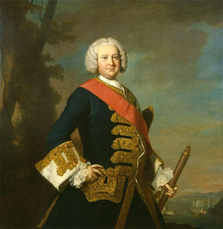 Sir Peter Warren by Thomas Hudson