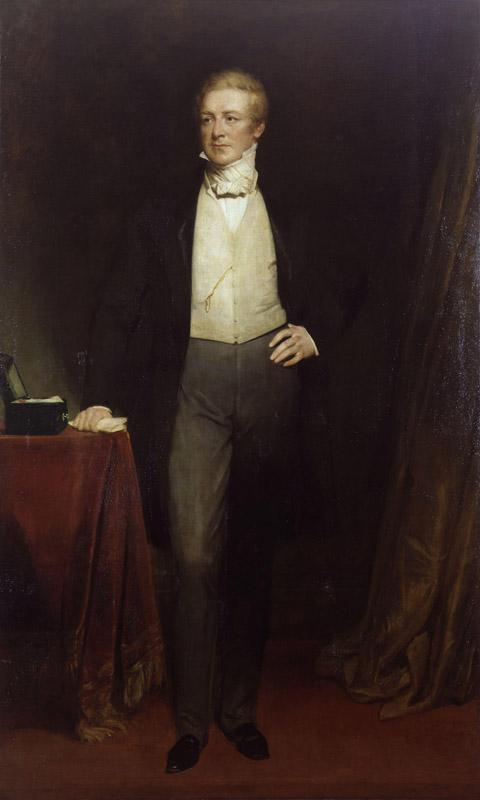 Sir Robert Peel, 2nd Bt by Henry William Pickersgill