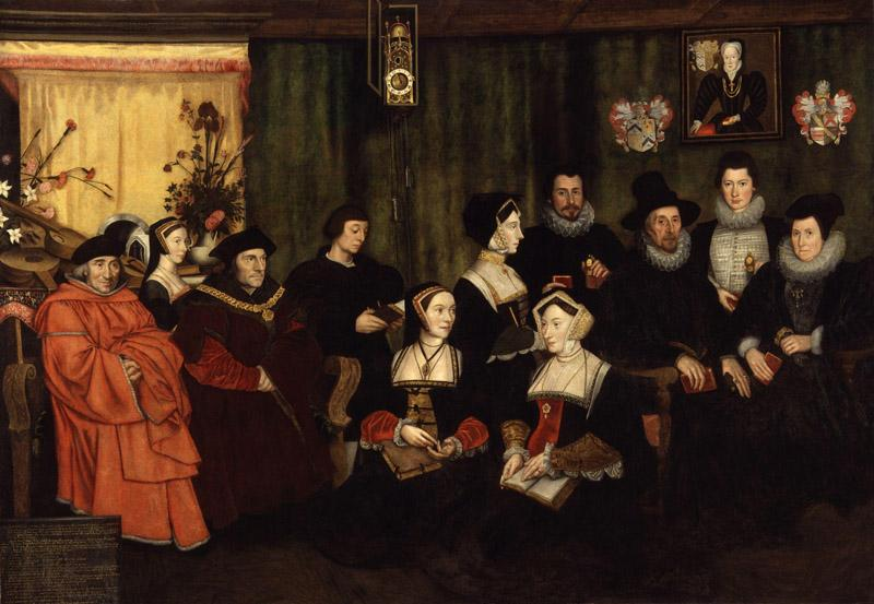 Sir Thomas More, his father, his household and his descendants by Hans Holbein the Younger